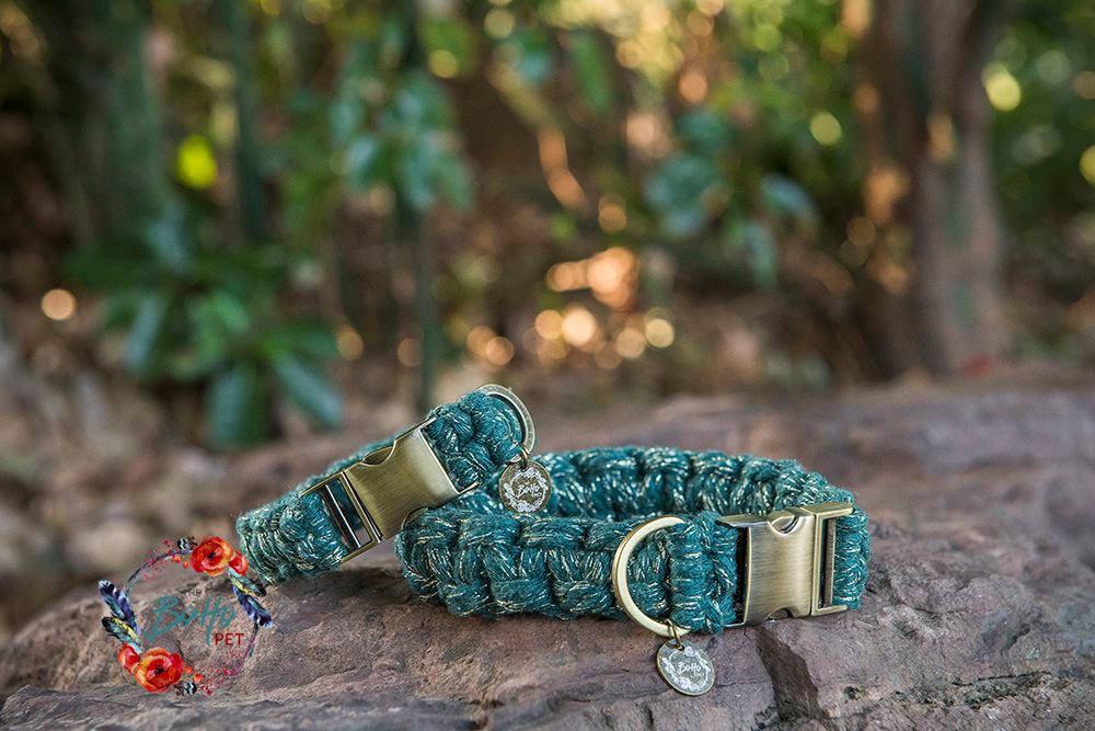 The Boho Pet Macrame Dog Collar gallery image