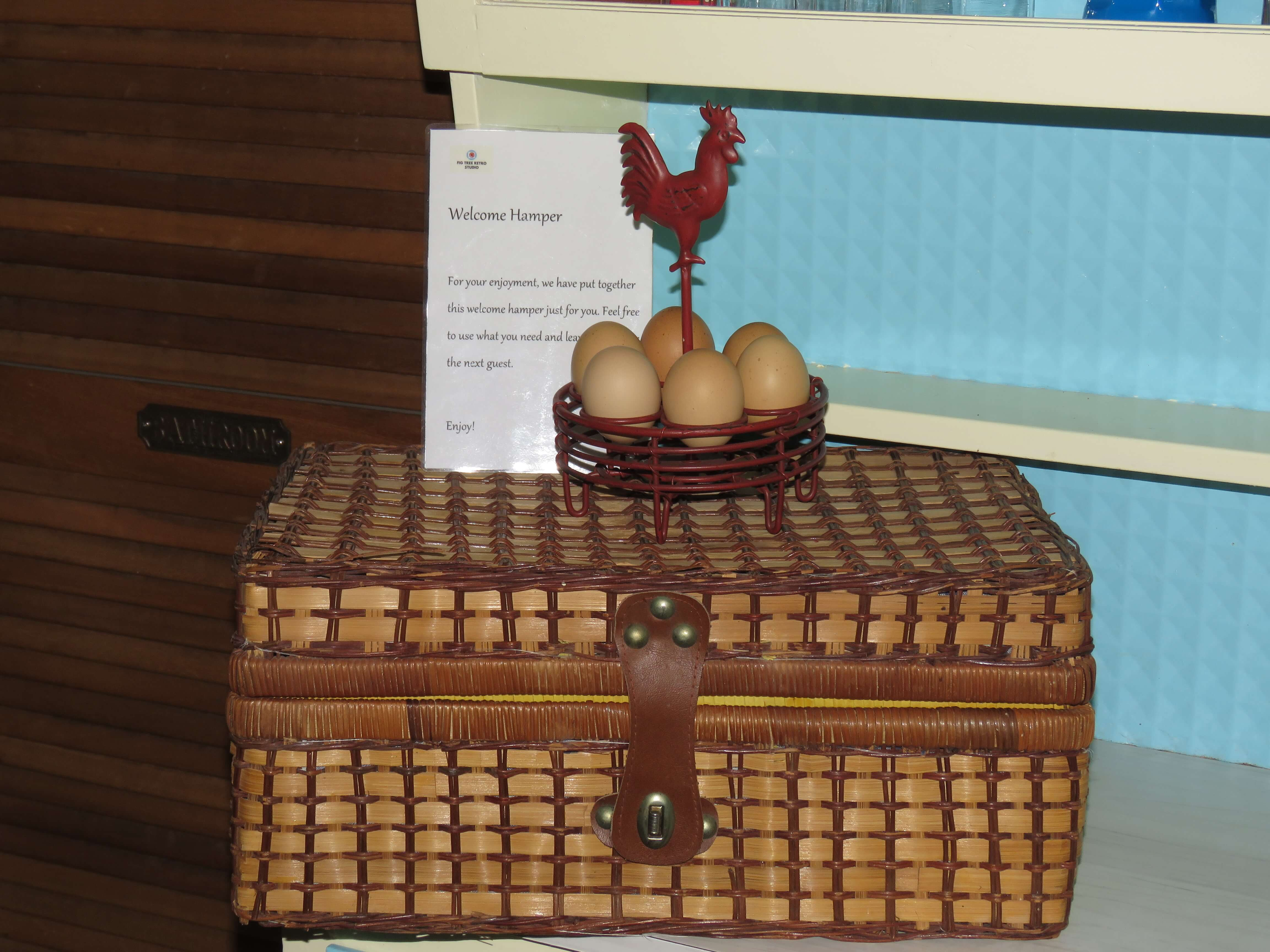 Farm fresh eggs provided, when available. gallery image