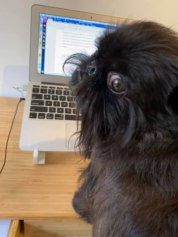 Black rough girl-working from home gallery image