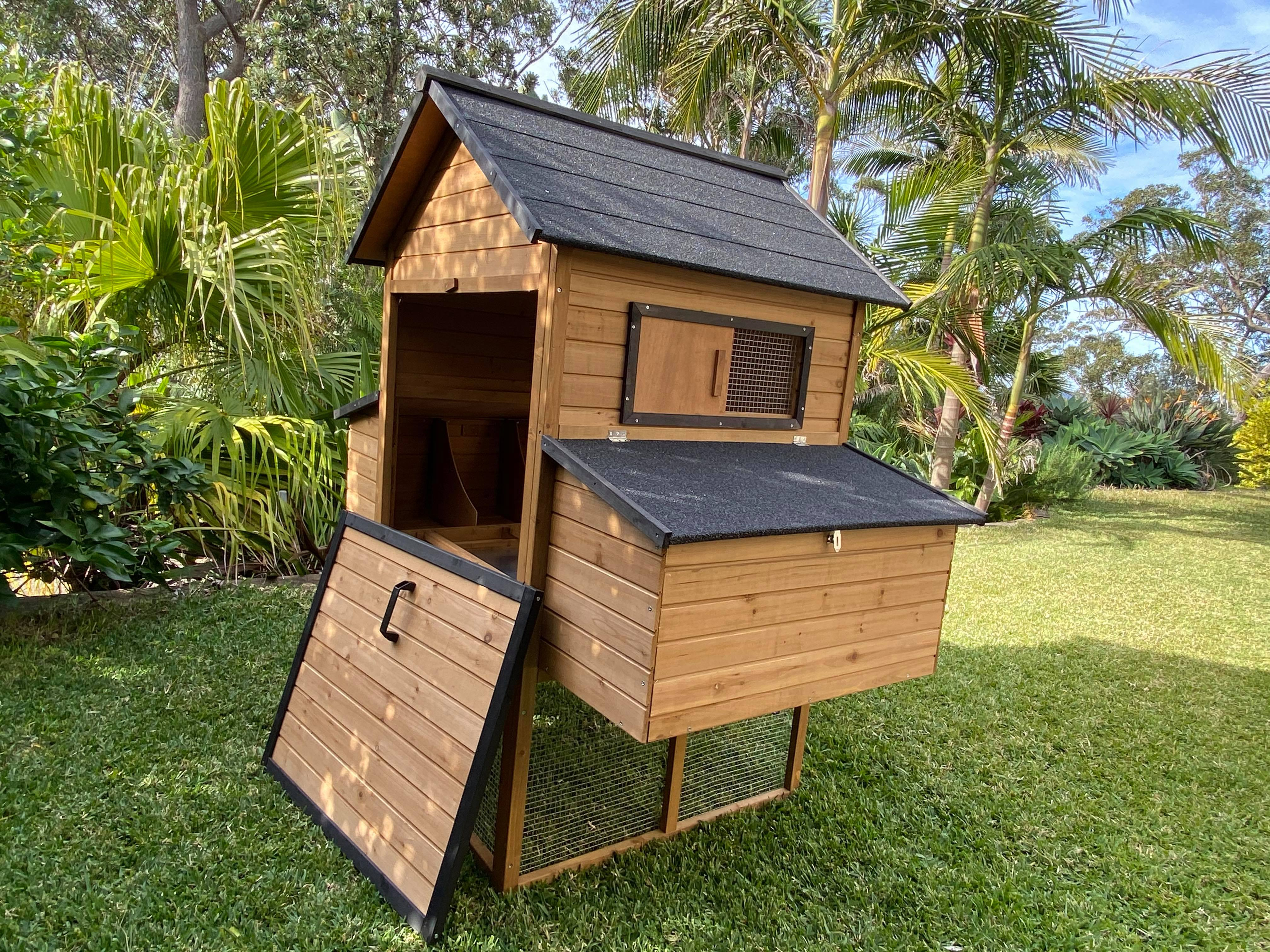 Cabana Chicken Coop with easy access for cleaning gallery image