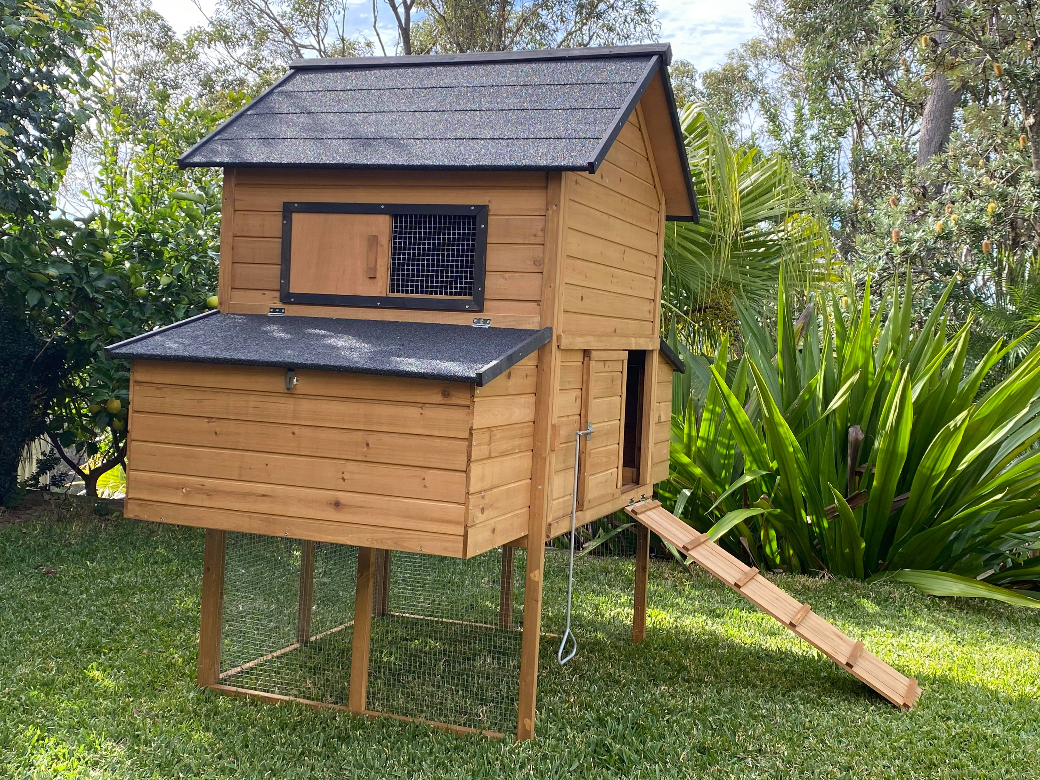 Cabana Chicken Coop with nesting box and ramp gallery image