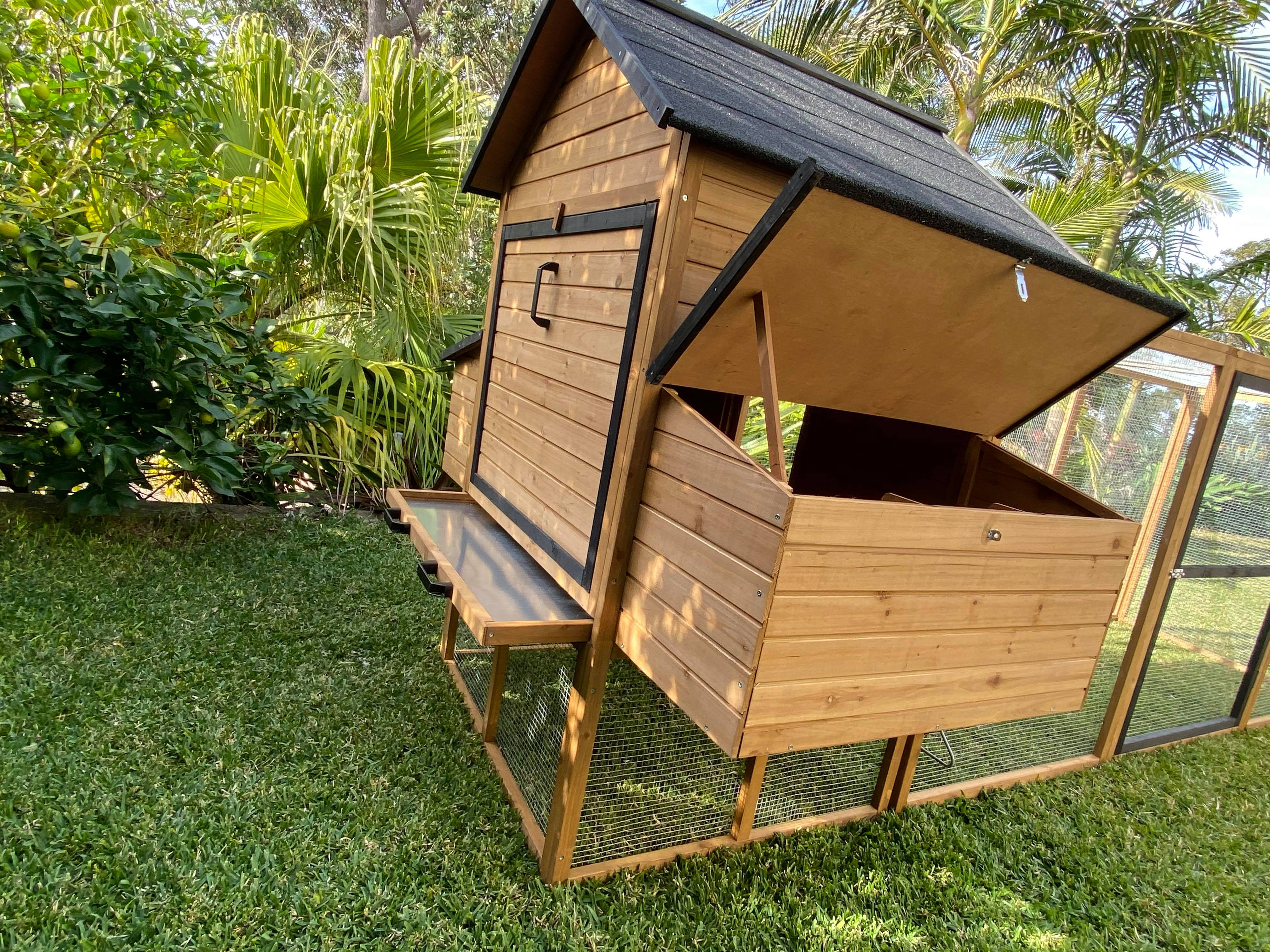 Cabana Chicken Coop with open nesting box gallery image