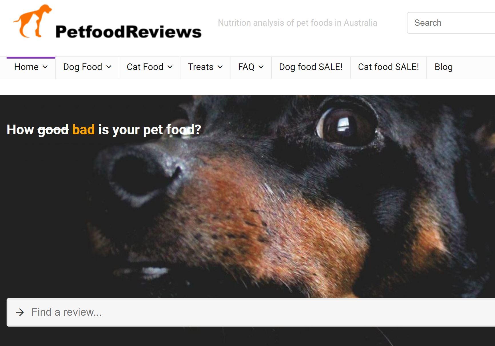 Pet Food Reviews (Australia) - Independent reviews