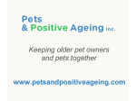 Pets and Positive Ageing - Keeping Older Pet Owners & Pets Together