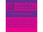 Animal Acupuncture - Sydney & Southern Tablelands
