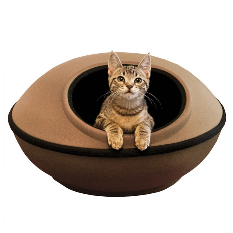 MOD DREAM POD CAT BED TAN/BLACK gallery image