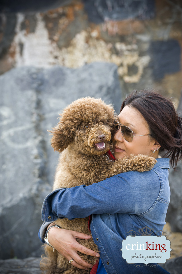 Poodle & Owner Pet Photography gallery image