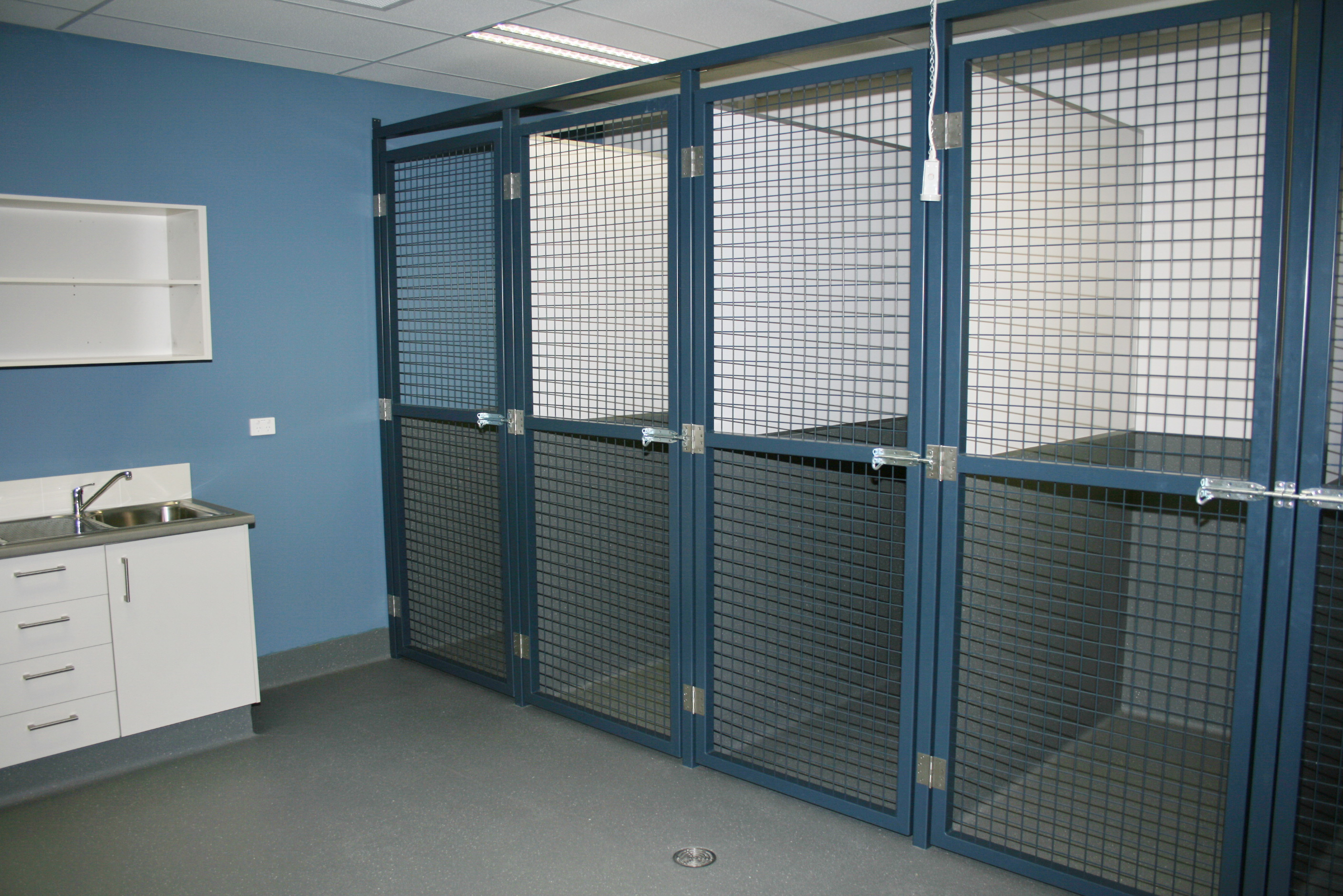 Dog Hospital with large cages/runs gallery image