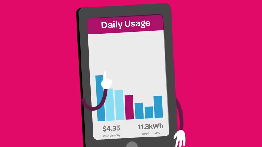 Illustration of mobile app for Powershop Energy customers