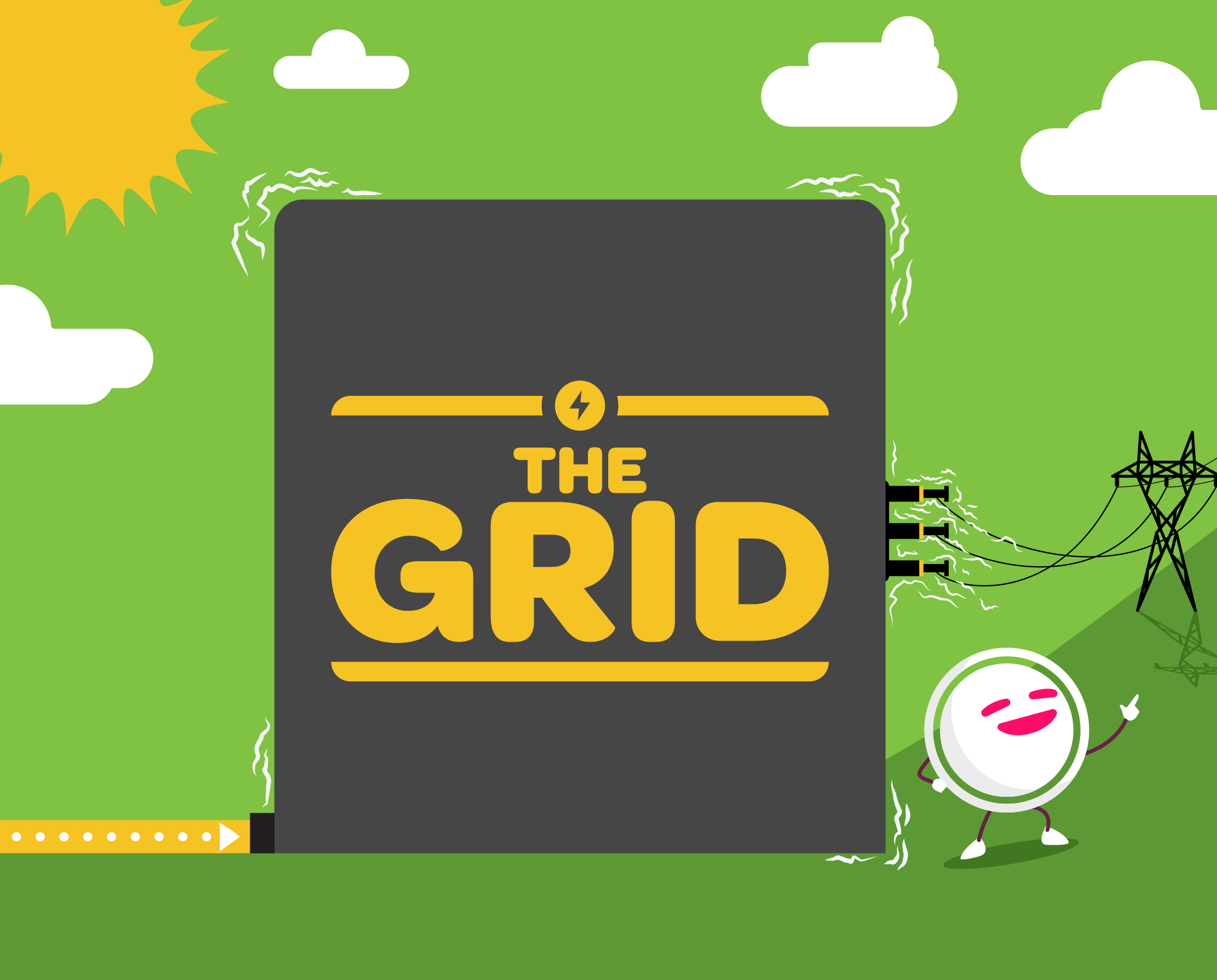 Illustration of the electricity power grid