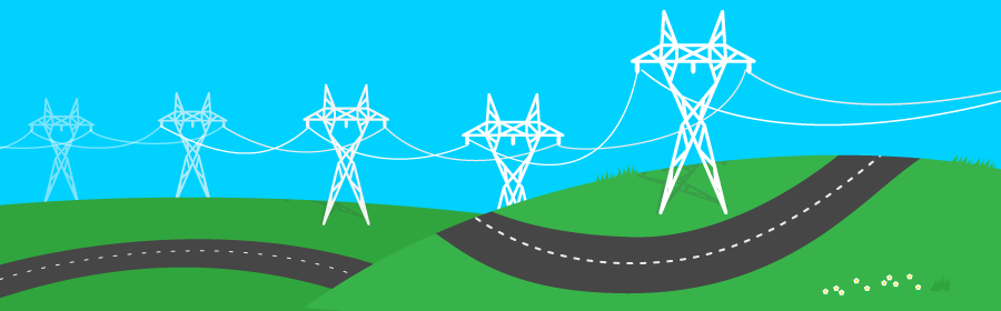 Graphic of transmission lines