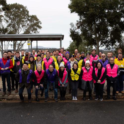 The Powershop team visiting the Hume Dam in Albury-Wodonga.