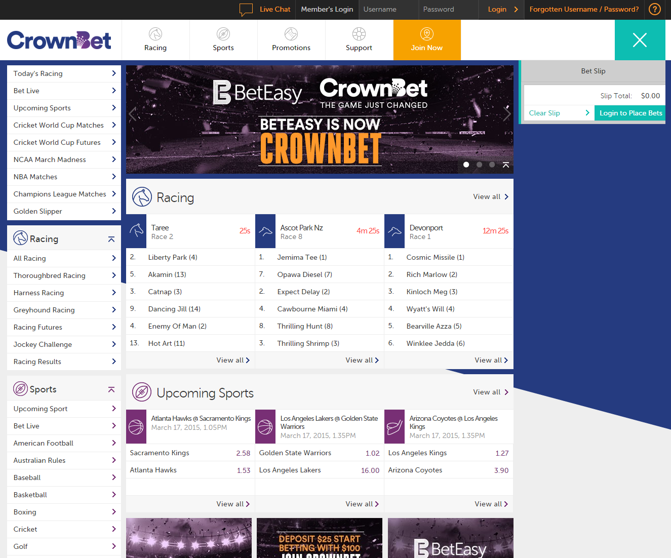CrownBet Website