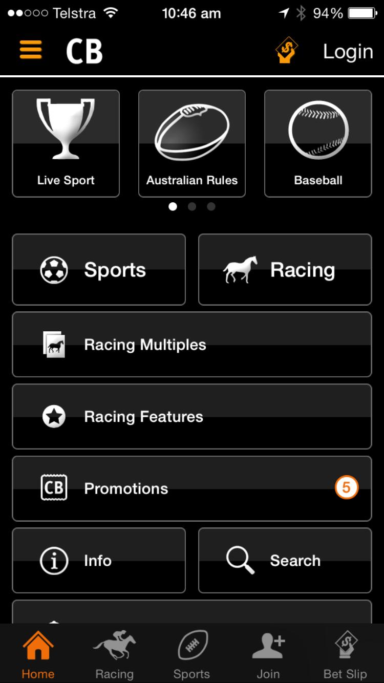 Centrebet App
