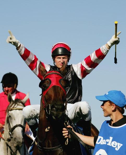 Craig Newitt enjoying Roman Arch's upset win in the 2006 Australian Cup