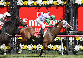 Prince of Penzance winning the 2015 Melbourne Cup