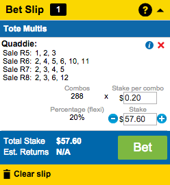 How to place a Quaddie?