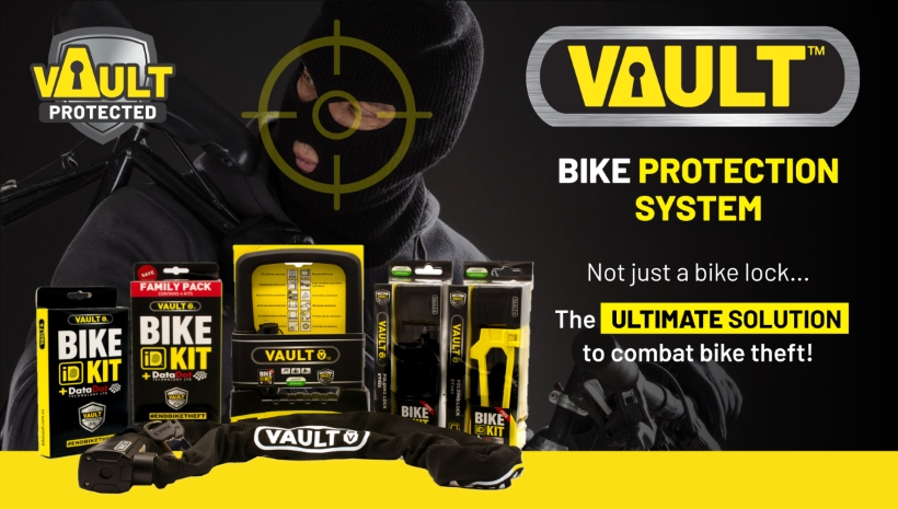 VAULT - Bike locks and ID kit advert