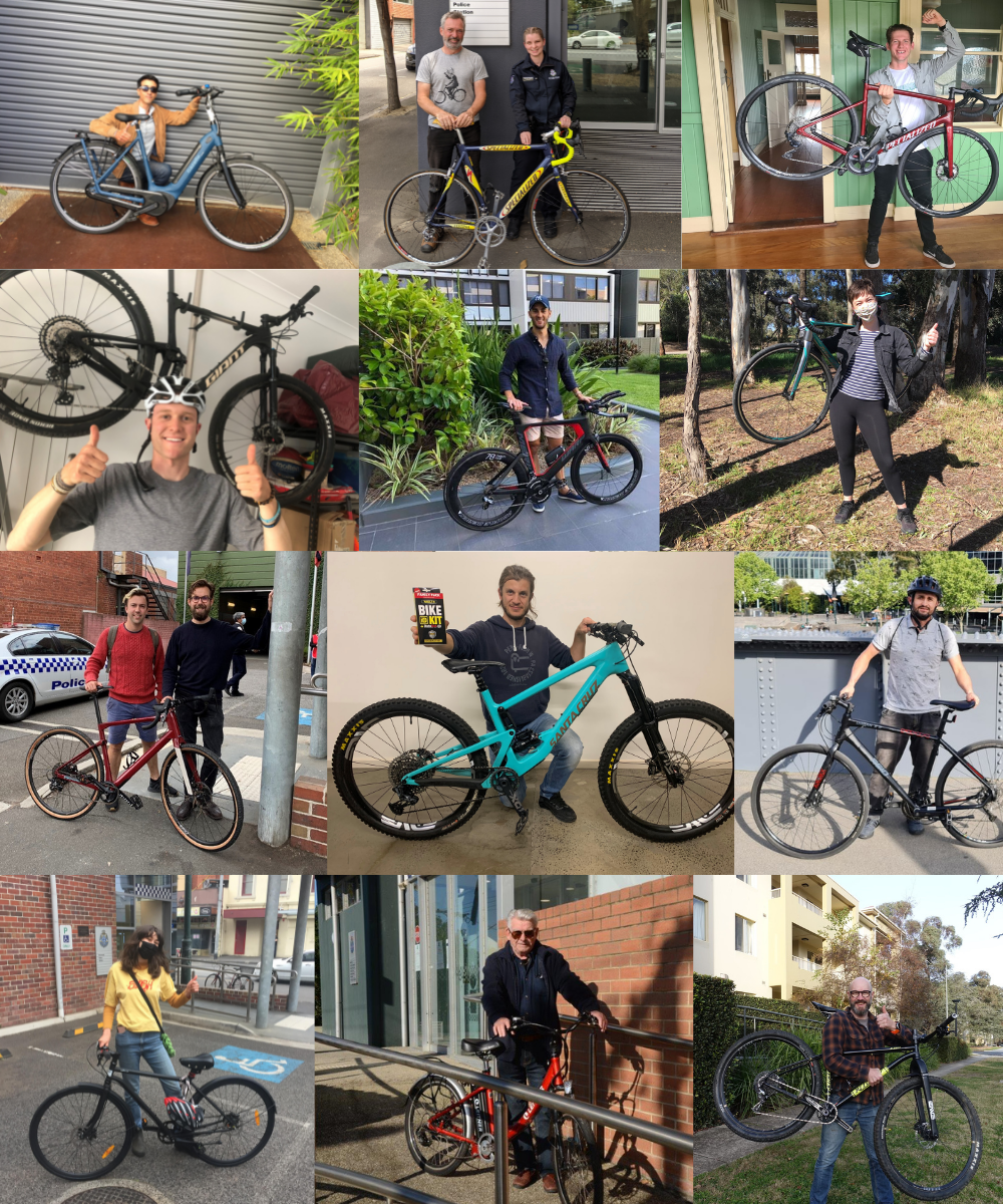 Some former bike theft victims that BikeVAULT has helped to recover their bikes