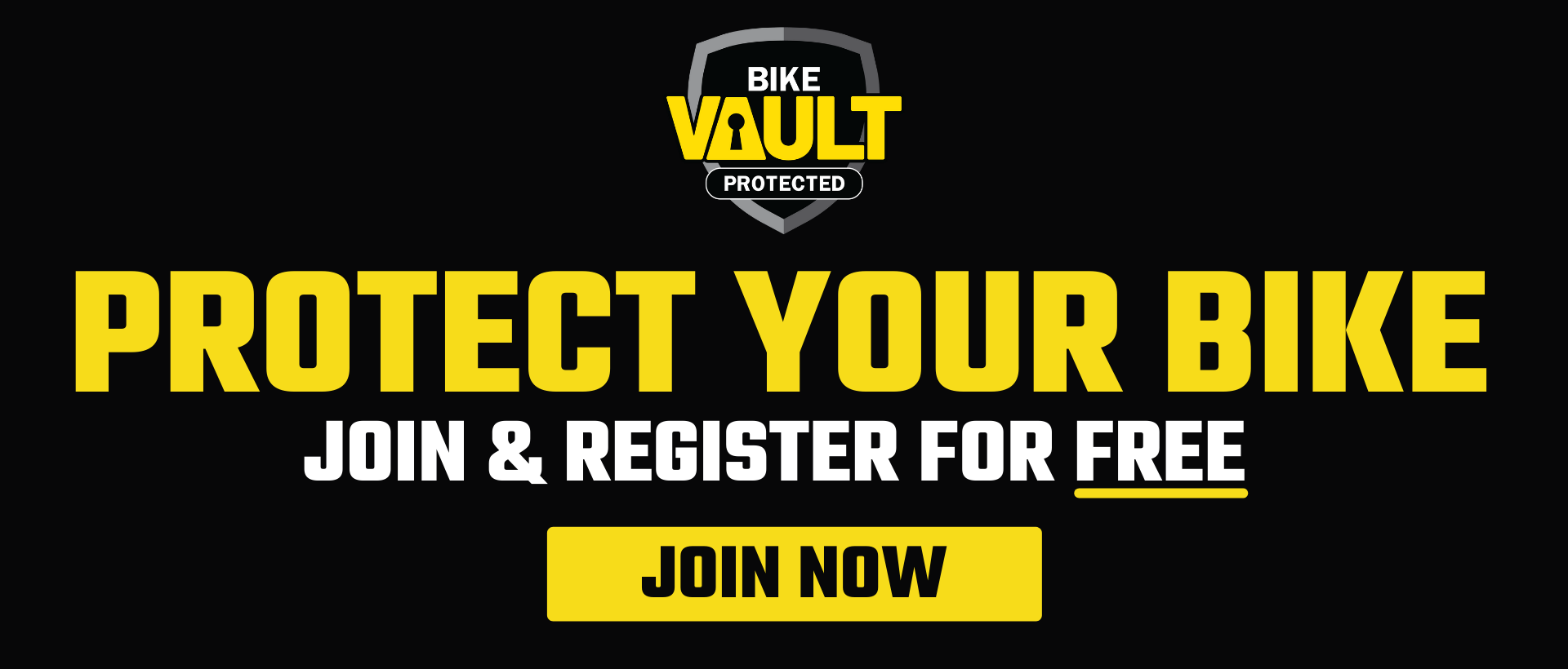 Protect Your Bike - Join and Register Your Bike for FREE with BikeVAULT