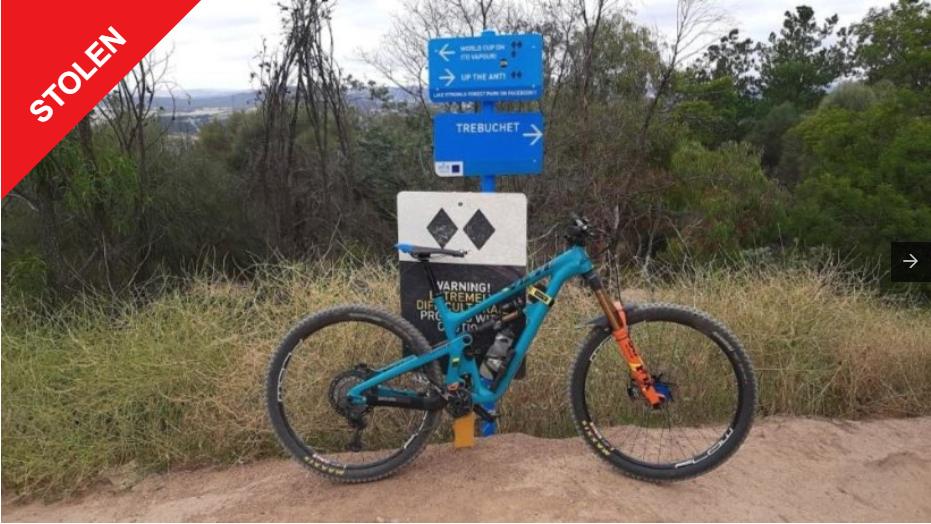 Stolen Yeti SB 150 reported stolen on BikeVAULT