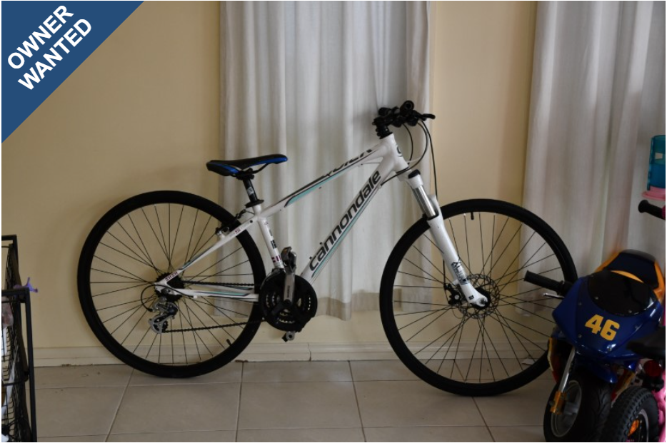 Owner Wanted - Cannondale MTB reported on PropertyVAULT