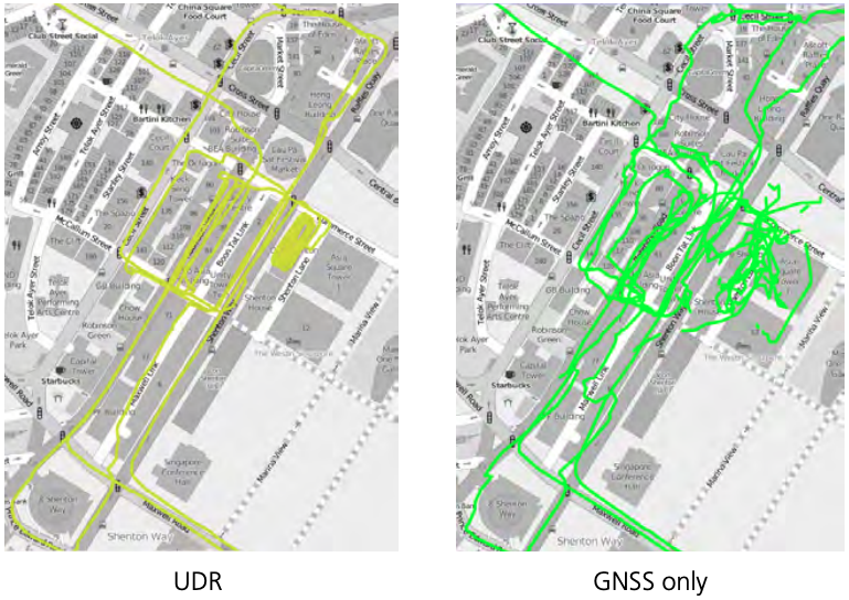 UDR versus GNSS only