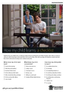 How my child learns - a checklist