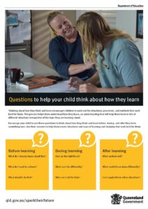 Questions to help your child think about how they learn