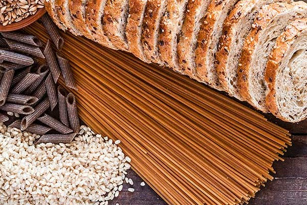 Wholemeal pasta, bread and rice
