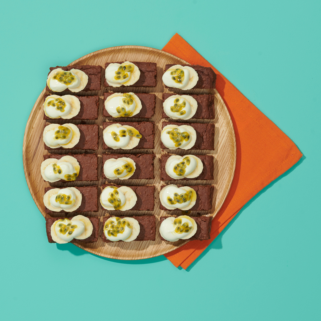 Party Plates Brownies