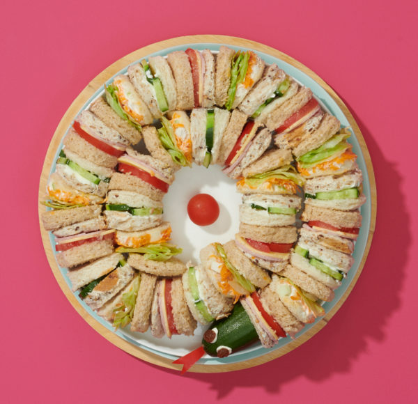 Party Plates SnakeS sandwiches