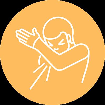 Sneeze into elbow icon