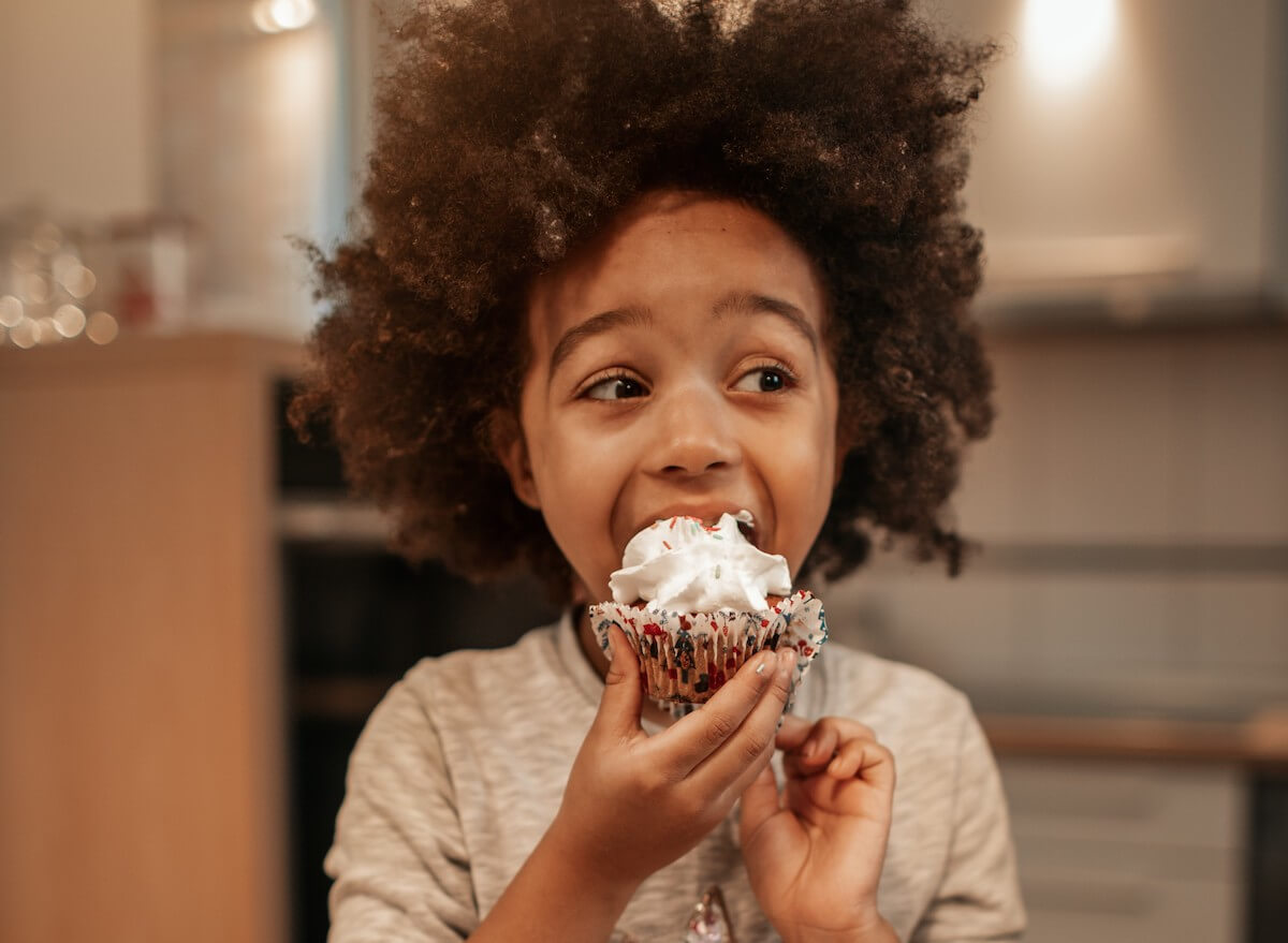 Child eating a sweat treat