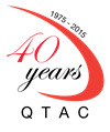 QTAC 40th Anniversary logo