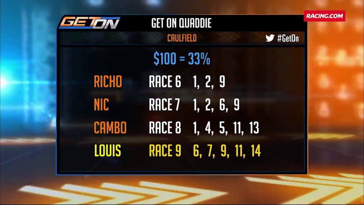 Caulfield Quaddie - Get On