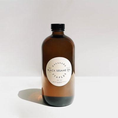 Rasasara Staples Black Sesame Oil Amber bottle 475ml