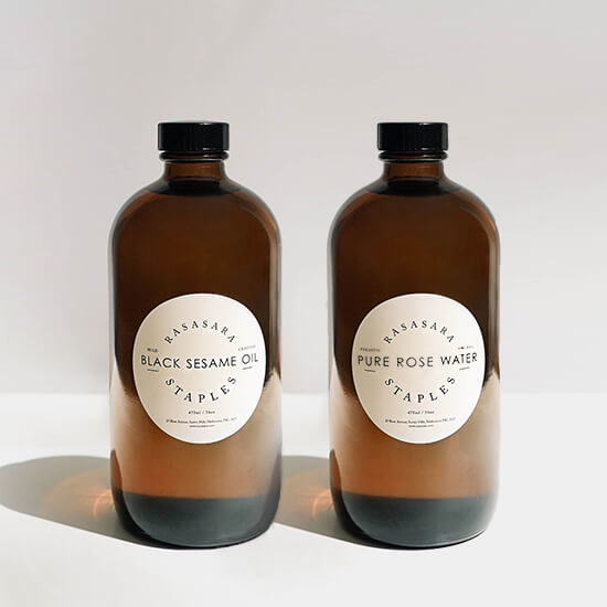 Rasasara Staples Duo Sesame Oil and Rose Water