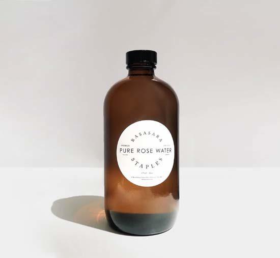 amber bottle premium organic rose water 475ml