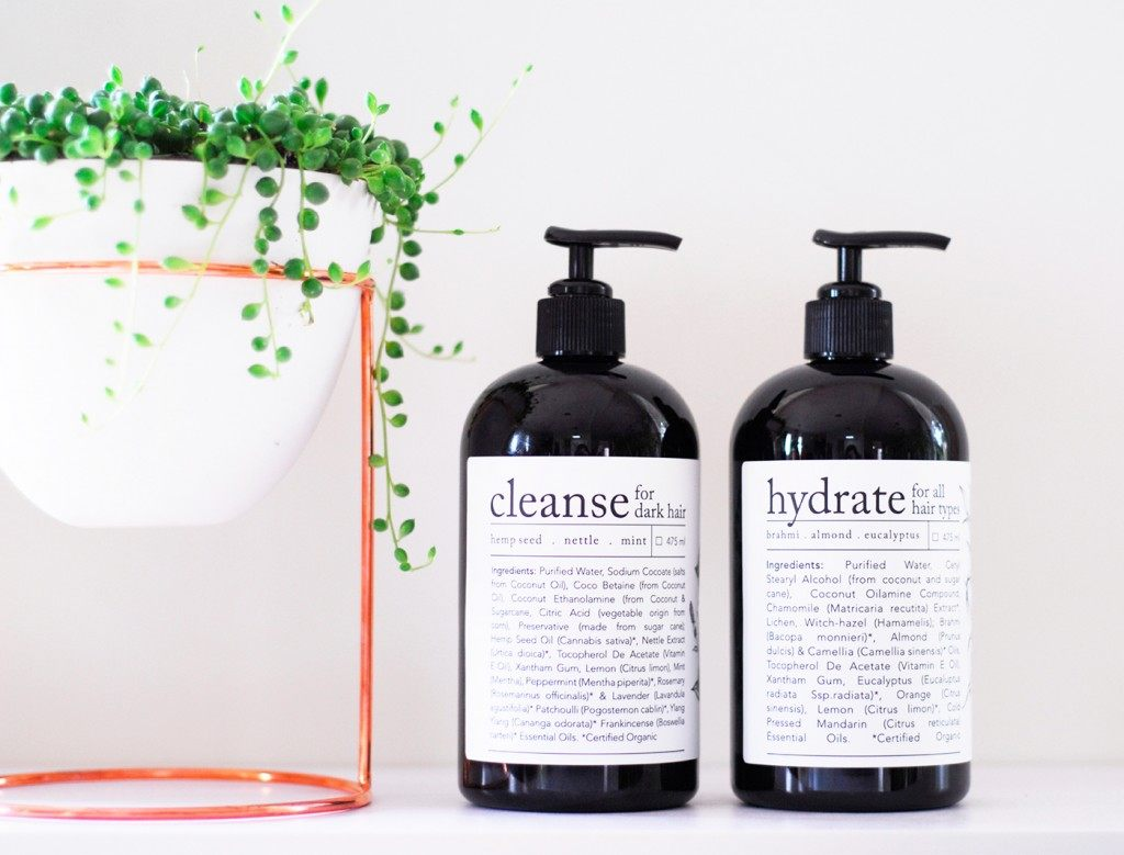 Cleanse and Hydrate hair shampoo and conditioner