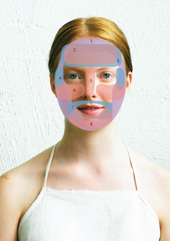 woman with face map overlay