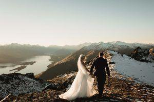 Heli destination wedding in the beautiful mountains of Queenstown