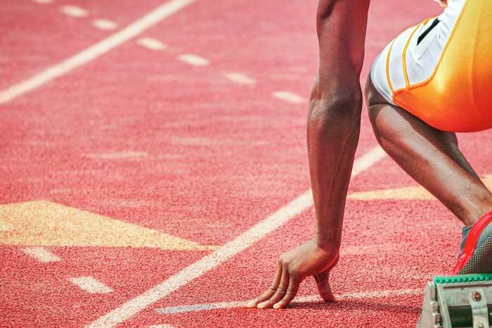 athlete preparing as concept for startups preparing