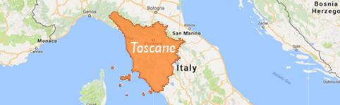 Kaart van Toscane
