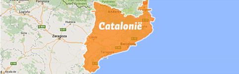 Kaart Catalonie