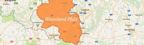 Kaart Rheinland
