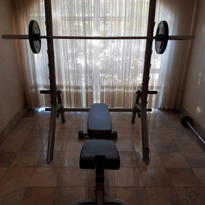 Weights Squat rack and bench press