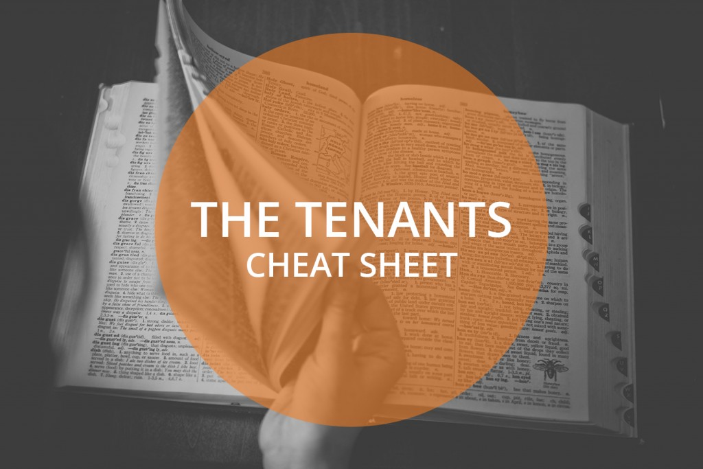 The tenant's cheat sheet
