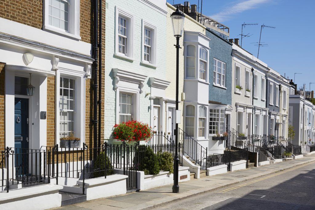 A line of properties signifying a property covenant