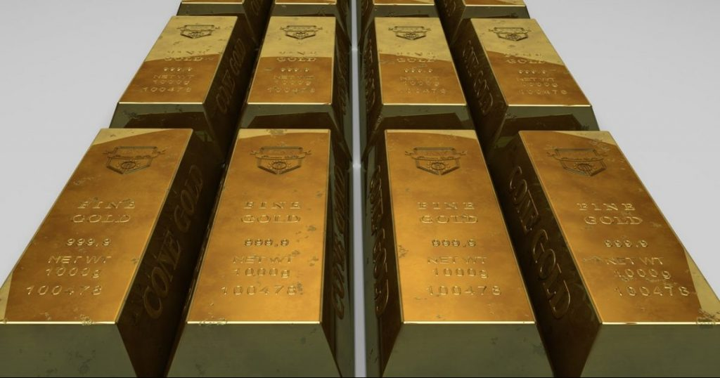A series of gold bars